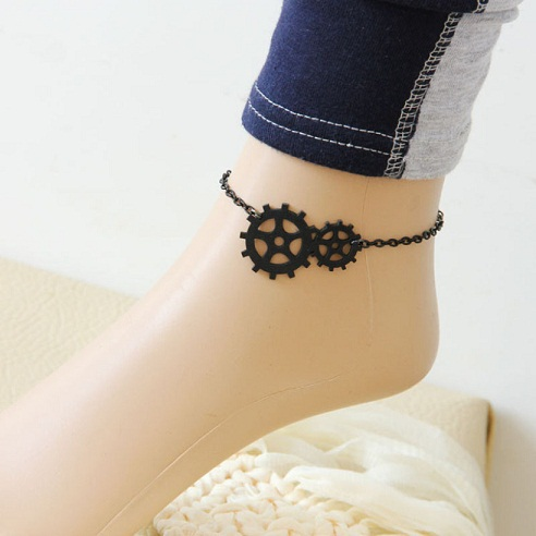 black-anklet-designs-beach-anklet