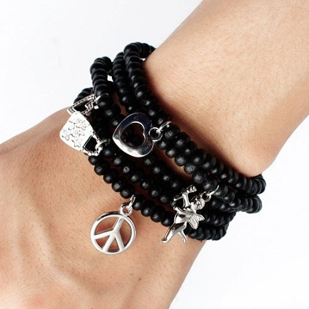 bracelets for men - Black Bracelets for Guys