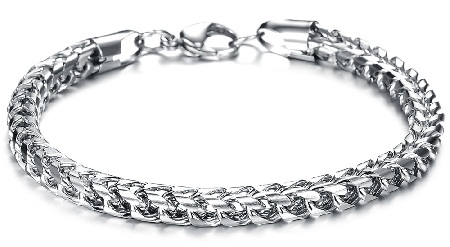 bracelets for men - plain chain bracelets