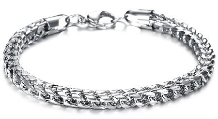 bracelets for men - plain chain bracelets