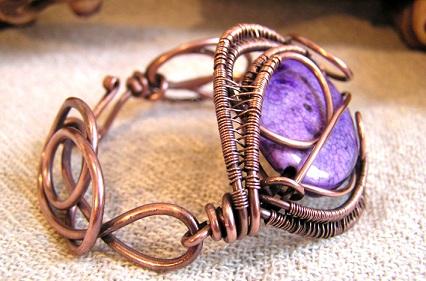 copper Bracelets design-weaved wirw 8