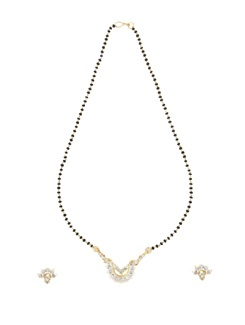 Delicate Single Line Mangalsutra With Floral Pendant