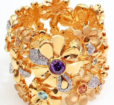 designer-bracelets-designs-unique-flower-and-precious-gem-bracelets
