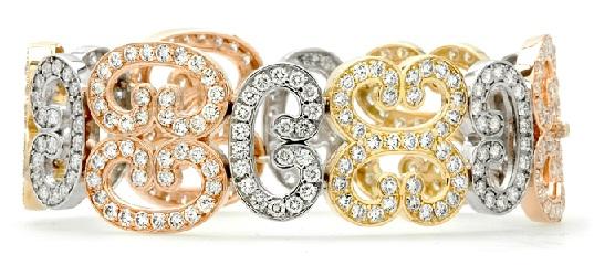 diamond-bracelets-tri-tone-diamond-cuff-bracelet