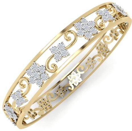 floral-designed-diamond-bangles-2