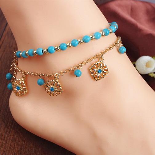 gold-anklets-designs-gold-turquoise-anklet