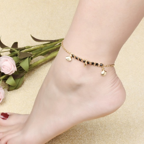 gold-anklets-designs-shell-decorated-gold-anklet