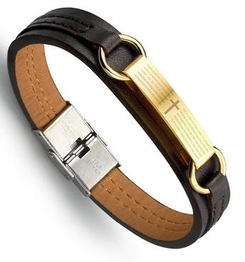 golden-bracelets-with-leather-strap-6