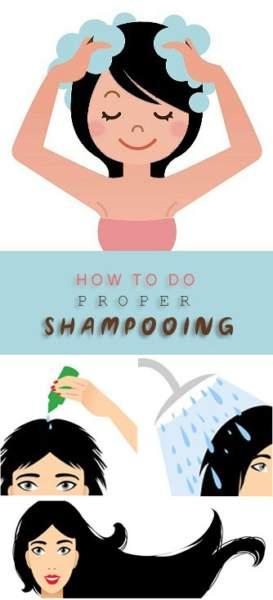 How To Do Proper Shampooing