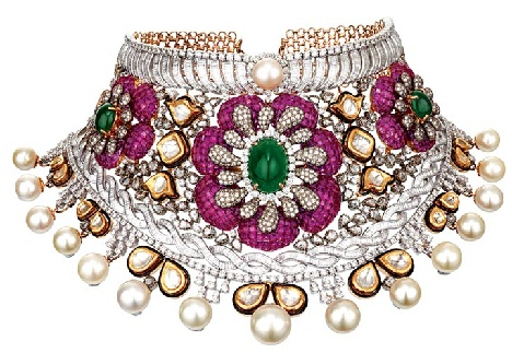 kundan-jewellery-designs-diamond-and-pearl-kundan-jewellery