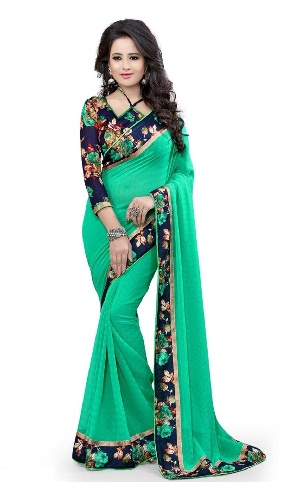 latest-designer-sarees-floral-border-saree