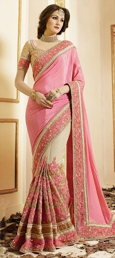 latest-designer-sarees-foux-georgette-saree