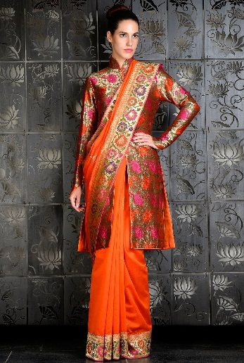 latest-designer-sarees-jacket-blouse-saree-designs