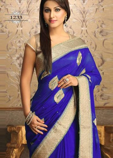 latest-designer-sarees-leaf-designed-saree