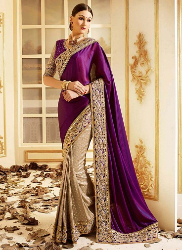 latest-designer-sarees-violet-embroidery-saree