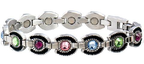 magnetic-bracelet-designs-multi-colour-gemstone-magnetic-bracelets