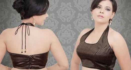 net-saree-blouse-neck-designs-halter-neck-blouse