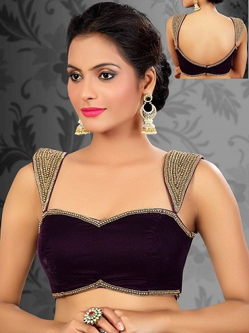 Sweetheart Neck Blouse For Net Saree