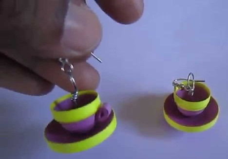 Paper Quilling Earring Designs Cup And Saucer Earrings