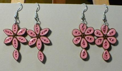 Paper Quilling Earring Designs Petals Earrings