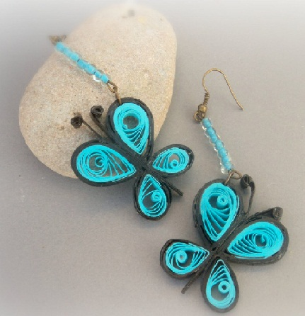 Paper Quilling Earring Designs Quilled Erfly Earrings