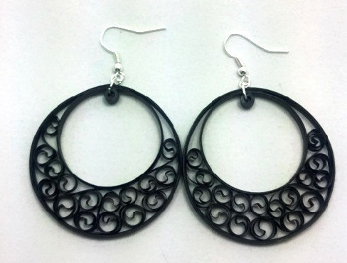 Paper Quilling Earring Designs Earrings In Hoops