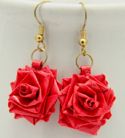 Paper Quilling Earring Designs Rose Earrings