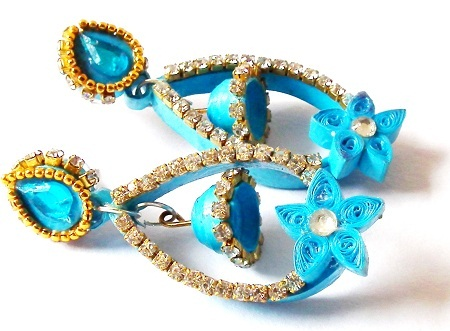paper-quilling-jewellery-designs-paper-quilled-blue-earring-with-white-stones