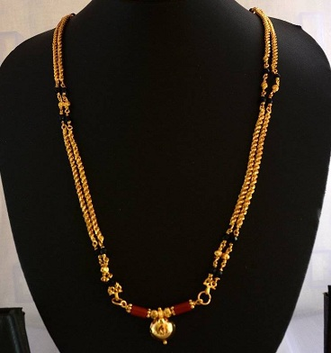 Filigree Work Mangalsutra In Gold