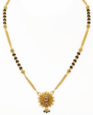 Short Mangalsutra In Gold