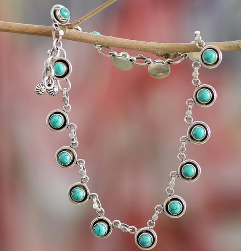 silver-anklets-for-girls-hand-crafted-indian-trend-turquoise-silver-anklets