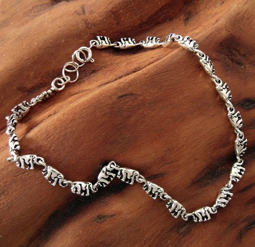 sterling star bracelet a inch and bell p silver anklet bracelets ankle fish