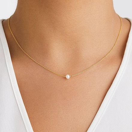 Single Pearl Choker Necklace