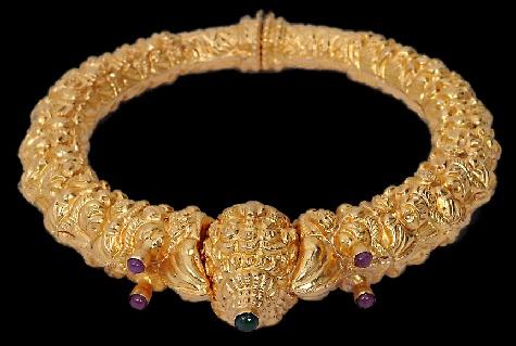 temple-jewellery-bangle-designs-antique-and-stunning-temple-nakshi-kada