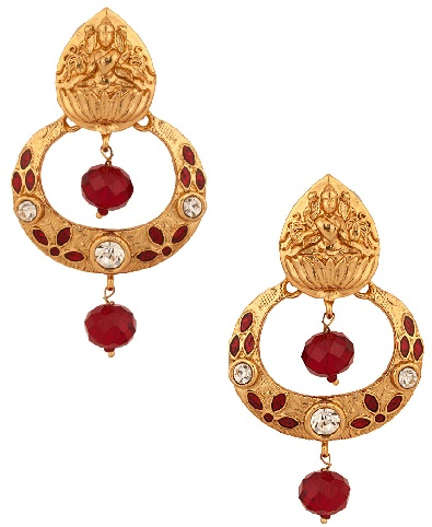 temple-jewellery-designs-golden-stud-with-temple-goddess-design