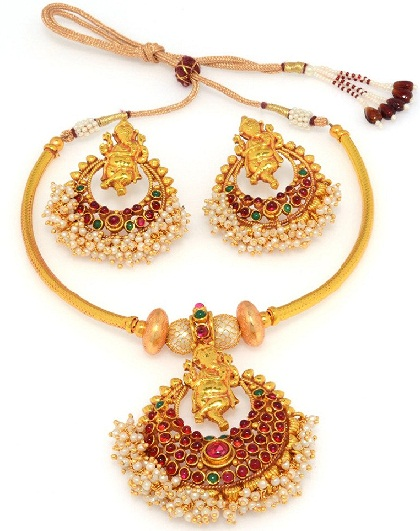 temple-jewellery-designs-temple-jewellery-set-with-earrings