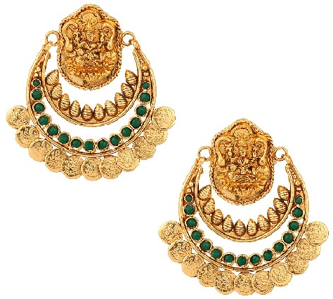 temple-jewellery-designs-temple-laxmi-meta-coin-earrings
