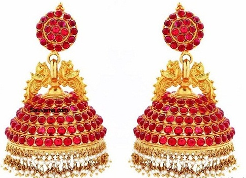 temple-jewellery-earrings-double-peacock-and-a-temple-bell-design-earrings