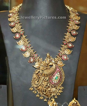 temple-jewellery-necklace-designs-antique-haram-temple-necklace
