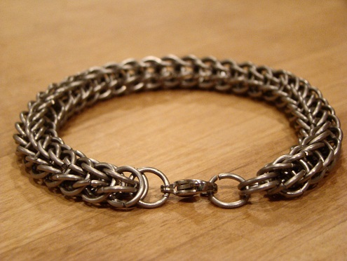 titanium-bracelets-chainmail-bracelet-with-persian-weave