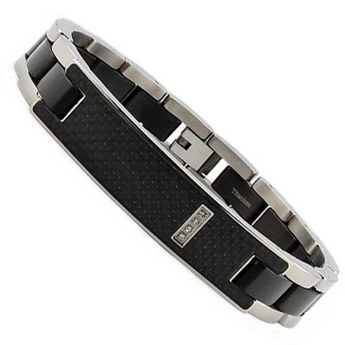titanium-bracelets-cubic-zirconia-bracelet-with-carbon-fiber-id