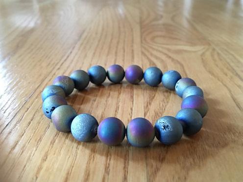 titanium-bracelets-druzy-matte-rainbow-titanium-bracelet