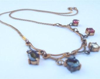 vintage-yellow-diamond-ruby-chain-4