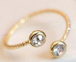 Best Gold Ring Design Adjustable Gold Ring with Stones