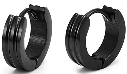 black-metal-earrings-for-men