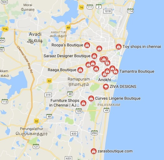 Boutiques in chennai