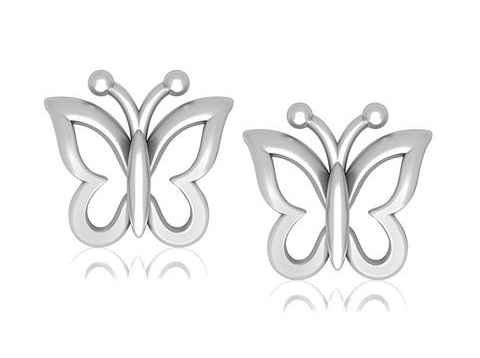 butterfly-shaped-platinum-earrings-for-kids