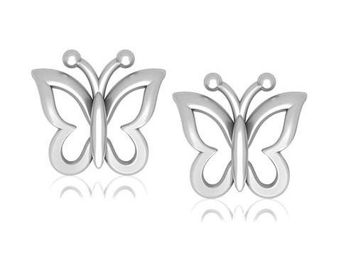 butterfly-shaped-platinum-earrings-for-kids