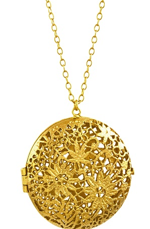 lockets dried necklaces jewelry round gold pendant women fashion glass plant natural locket in flower necklace flowers item from blue dry