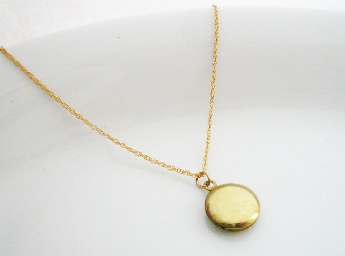 on necklace shop lockets gold dainty small rose locket tiny wanelo